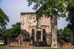 Tempel bij het Historische Park van Sukhothai, Thailand Stock Afbeeldingen