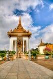 Tempel bij het koninklijke paleis - Kambodja (hdr) Stock Fotografie
