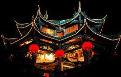 tempel bij nacht Royalty-vrije Stock Foto's