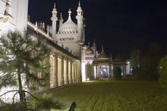 Tempel bij nacht Stock Foto's