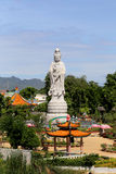 Tempel bij rivierkwai Royalty-vrije Stock Foto's