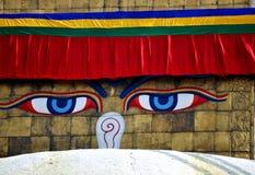 Tempel Bodnath Stupa fotografering för bildbyråer