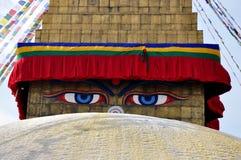 Tempel Bodnath Stupa arkivbilder