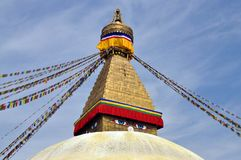 Tempel Bodnath Stupa arkivfoton