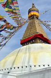 Tempel Bodnath Stupa royaltyfri fotografi