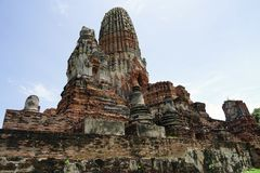 Tempel-Buddhismus-Buddha-Reise-Religion Stadt Ayutthaya Thailand lizenzfreies stockbild