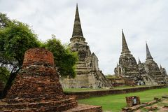 Tempel-Buddhismus-Buddha-Reise-Religion Stadt Ayutthaya Thailand stockfoto
