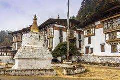 Tempel in Bumthang stockfotografie