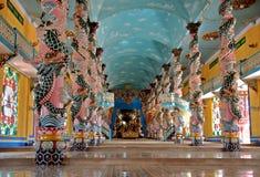 Tempel Cao-Dai in Vietnam stockbilder