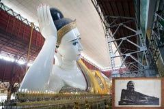 Tempel Chaukhtatgyi Bubbha, Rangun, Myanmar Stockbilder