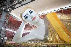 Tempel Chaukhtatgyi Bubbha, Rangun, Myanmar Lizenzfreies Stockfoto