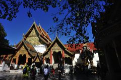 Tempel in chiangmai Royalty-vrije Stock Foto's
