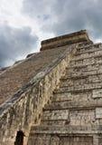 Tempel Chichen Itza Mexiko stockbild