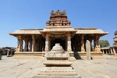 Tempel complex in Hampi stock afbeeldingen