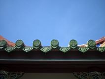 Tempel-Dach-Detail Stockfotografie