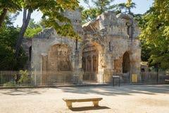 Tempel de Diane, Nîmes arkivfoton
