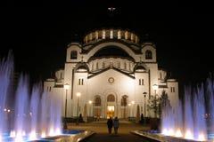 Tempel in de nacht royalty-vrije stock afbeelding
