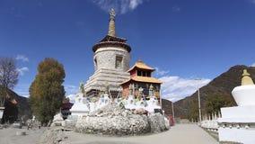 Tempel in de Provincie van Sichuan stock video