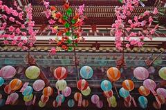 Tempel in de Stad Singapore van China stock afbeeldingen