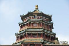 Tempel in de Zomerpaleis Peking stock afbeelding