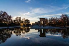 Tempel Debod i Madrid Arkivbild