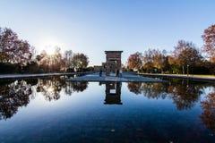 Tempel Debod i Madrid Arkivfoton