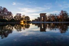 Tempel Debod i Madrid Royaltyfri Bild
