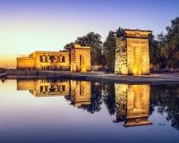 Tempel Debod van Madrid Stock Afbeeldingen