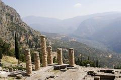 Tempel in Delphi Griekenland stock fotografie