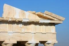 Tempel der Athena Nike-Rekonstruktionsarbeit Lizenzfreies Stockbild