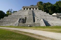 Tempel der Beschreibungen. Alte Mayastadt, Mexiko Stockfoto