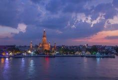 Tempel der Dämmerung, Wat Arun Lizenzfreie Stockfotos