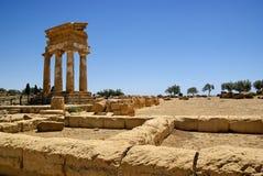 Tempel der Fußrolle und des Pollux Lizenzfreie Stockbilder