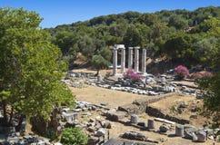 Tempel der großen Götter bei Samothraki lizenzfreies stockbild