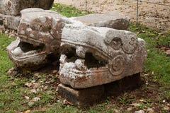 Tempel der Jaguare und des Eagless, Chichen Itza, Mexiko, Detail Lizenzfreies Stockbild