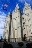Tempel der Kirche von Jesus Christ von neuzeitlichen Heiligen im Salz Lizenzfreies Stockfoto