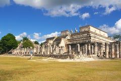 Tempel der Krieger, Chichen-Itza Lizenzfreies Stockfoto