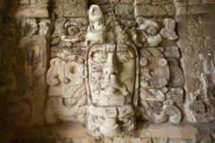 Tempel der Masken bei Kohunlich Mexiko Lizenzfreie Stockbilder