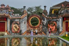 Tempel der Mutter Chua Ba Mu in Hoian, Vietnam stockfoto