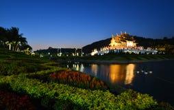 Tempel in der Nacht lizenzfreies stockfoto