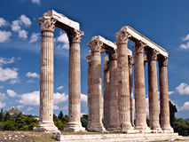 Tempel der Zeus lizenzfreies stockfoto