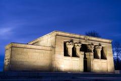 Tempel des Debod Abends Stockbild
