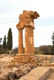 Tempel des Dioscuri, Agrigent, Sizilien, Italien Lizenzfreie Stockbilder