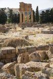 Tempel des Dioscuri - des Agrigents - des Siziliens, Lizenzfreie Stockbilder