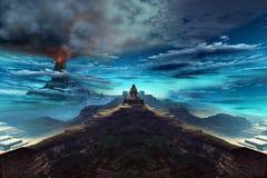 Tempel des Feuer-Königs lizenzfreie abbildung