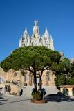 Tempel des heiligen Herzens von Jesus auf Tibidabo in Barcelona, Spanien Lizenzfreie Stockbilder