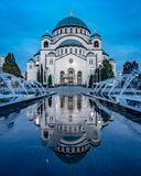 Tempel des Heiligen Sava in Belgrad stockfotografie