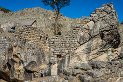 Tempel des Kondors Machu Picchu ruiniert peruanisches PET Anden Cuzco Lizenzfreie Stockfotografie