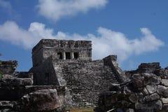 Tempel des Mayans in Mexiko Lizenzfreies Stockfoto