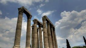 Tempel des olympischen Zeus stock video